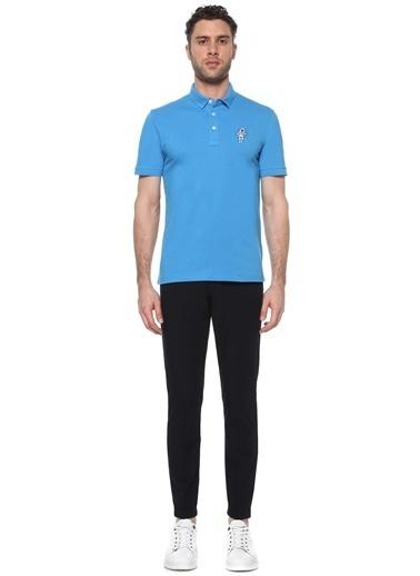 NetWork Erkek 1074820 Slim Fit Polo Yaka Patchli T-shirt Mavi